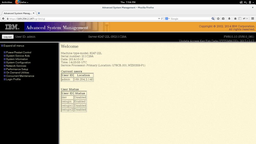 Change Hypervisor mode on Power8 Server (PowerVM to PowerKVM) (1/3)