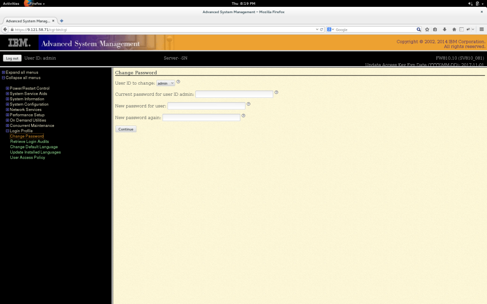 Configure IPMI on Power8 (2/2)